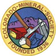 Colorado Mineral Society Patch